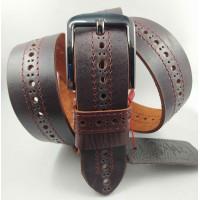 Мужской ремень джинсовый Mr.Belt C40-114 коричневый
