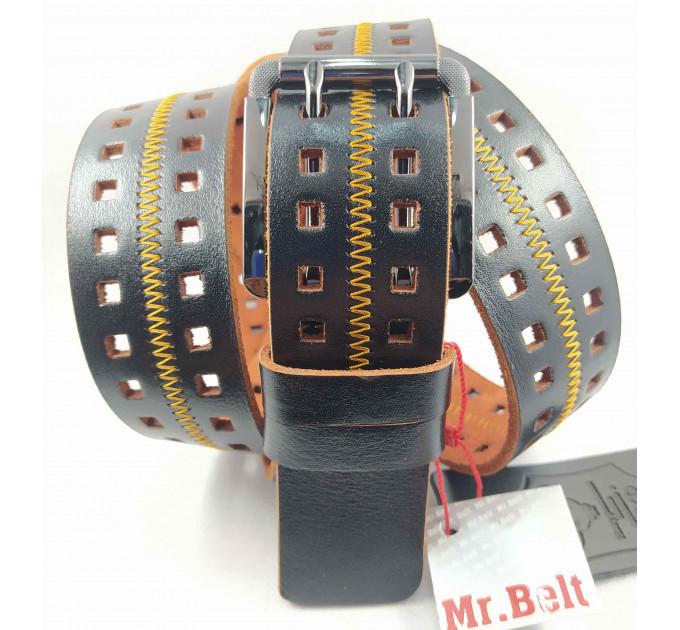 Мужской ремень джинсовый Mr.Belt C40-115 коричневый