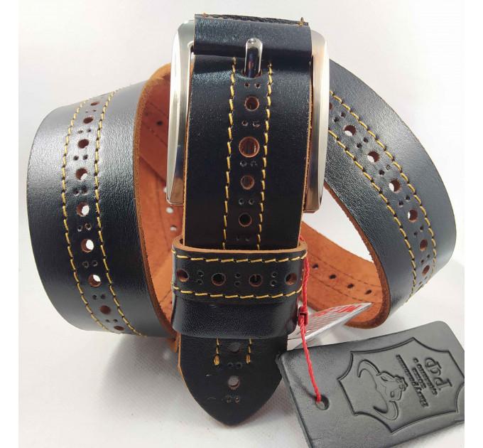 Мужской ремень джинсовый Mr.Belt C40-116 коричневый