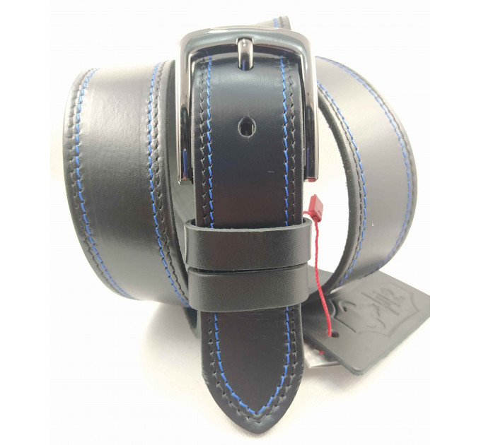 Мужской ремень джинсовый Mr.Belt C40-120 черный