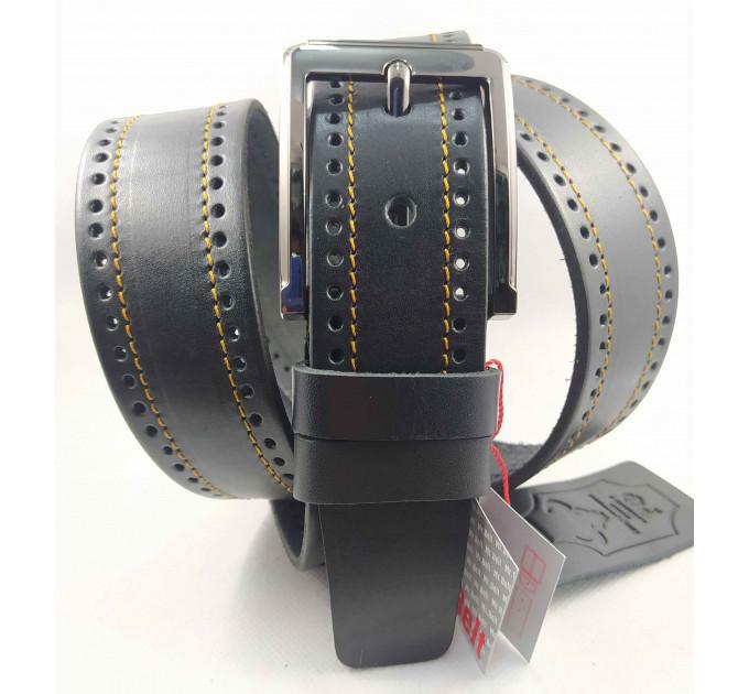Мужской ремень джинсовый Mr.Belt C40-121 черный