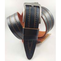 Мужской ремень джинсовый DNKA C40-135 коричневый