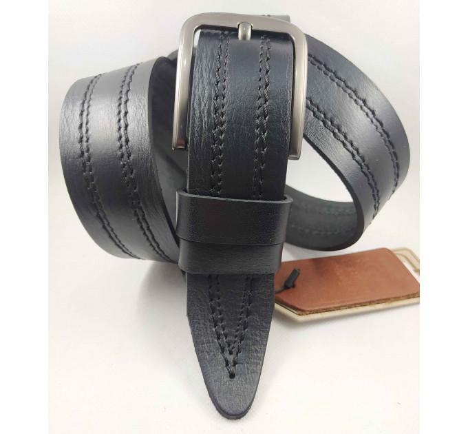 Мужской ремень джинсовый DNKA C40-136 черный