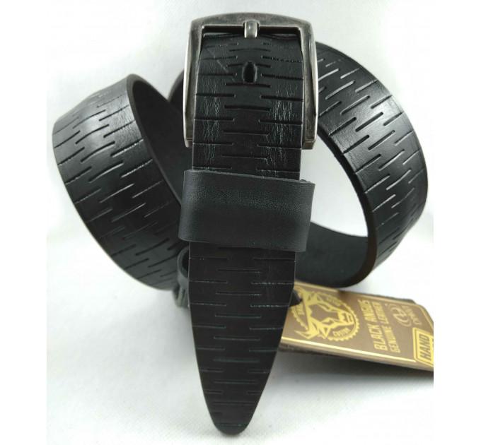 Мужской ремень джинсовый DNKA С40-143 черный