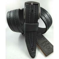 Мужской ремень джинсовый DNKA С40-145 черный