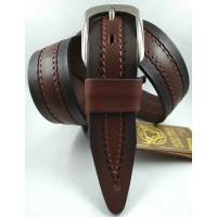 Мужской ремень джинсовый DNKA С40-148 коричневый