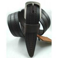 Мужской ремень джинсовый DNKA С40-155 темно-коричневый