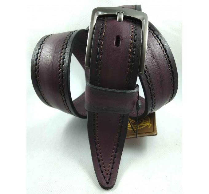 Мужской ремень джинсовый DNKA С40-158 фиолетовый