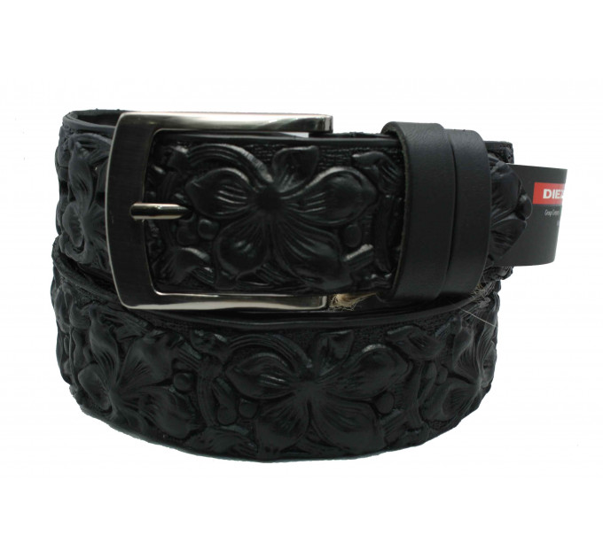 Мужской ремень для джинсов C40-022 черный