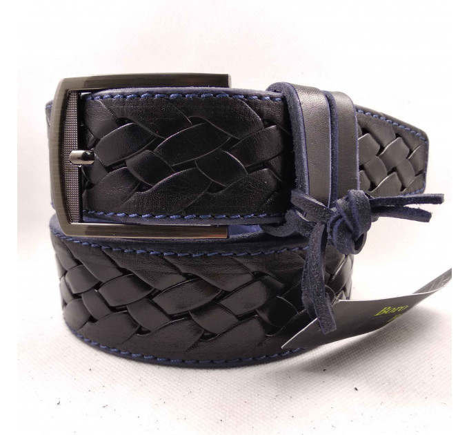 Мужской ремень для джинсов C40-042 черный