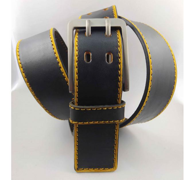 Мужской ремень джинсовый Millennium C45-024 черный