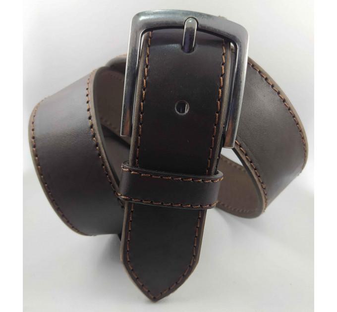Мужской ремень джинсовый Millennium C45-026 темно-коричневый