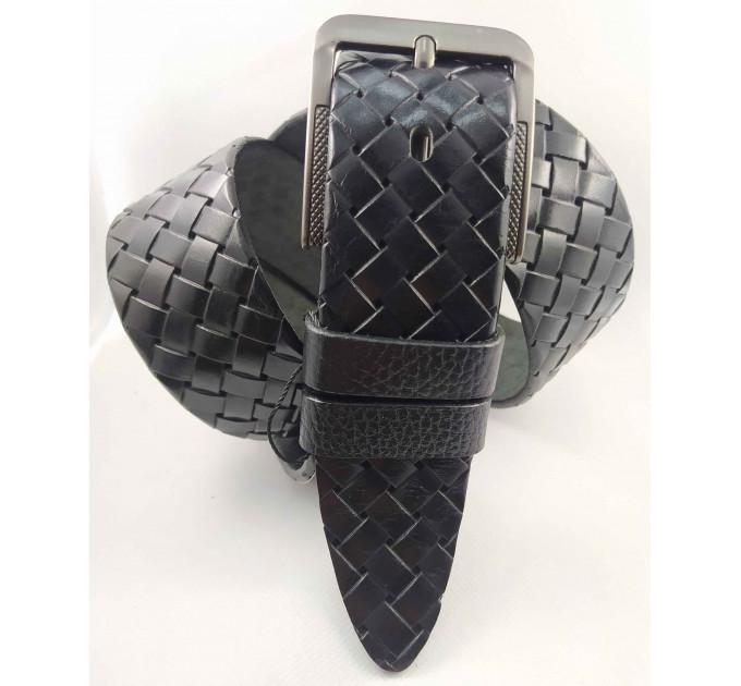 Мужской ремень джинсовый BELT PREMIUM С45-032 черный