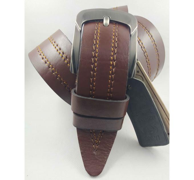 Мужской ремень джинсовый DNKA С45-034 коричневый