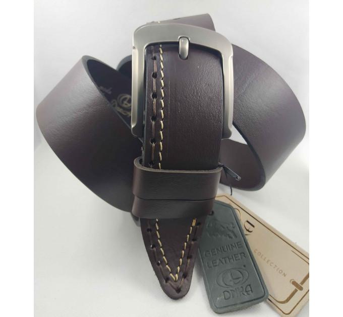 Мужской ремень джинсовый DNKA С45-035 темно-коричневый