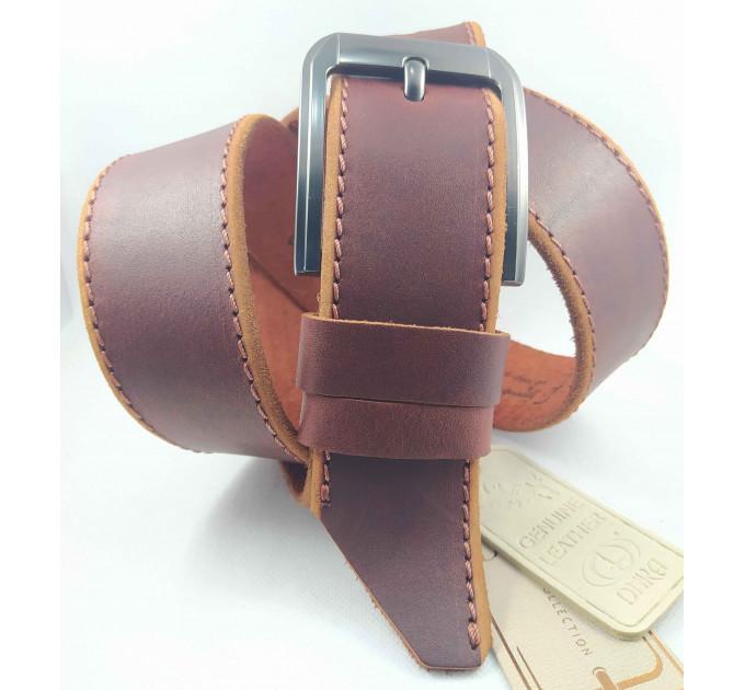 Мужской ремень джинсовый DNKA С45-036 коричневый