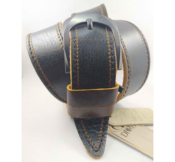 Мужской ремень джинсовый DNKA С45-037 коричневый