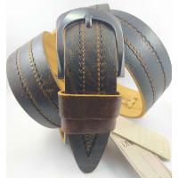 Мужской ремень джинсовый DNKA С45-038 коричневый