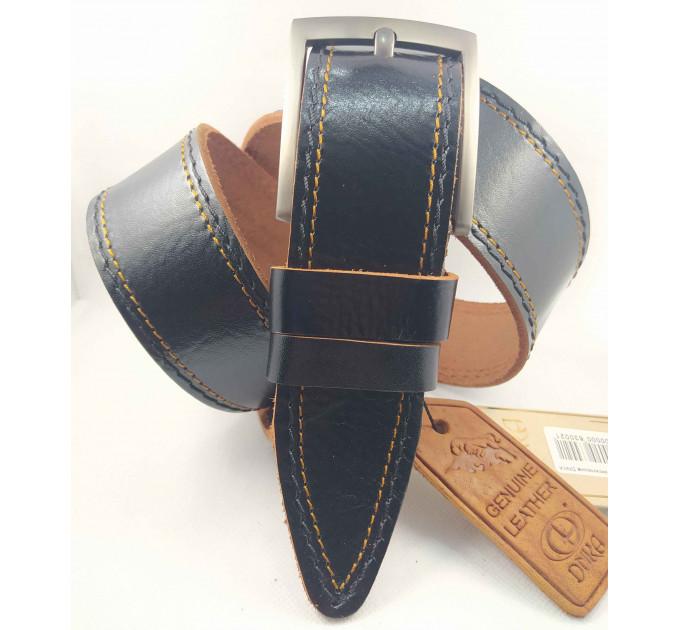 Мужской ремень джинсовый DNKA С45-039 темно-коричневый