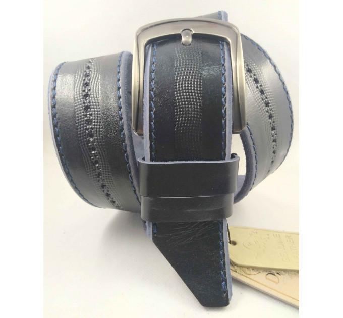 Мужской ремень джинсовый DNKA С45-047 темно-синий