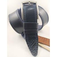 Мужской ремень джинсовый DNKA С45-048 темно-синий