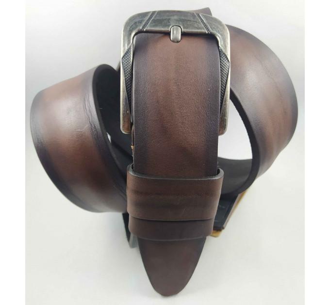 Мужской ремень джинсовый DNKA C45-050 коричневый