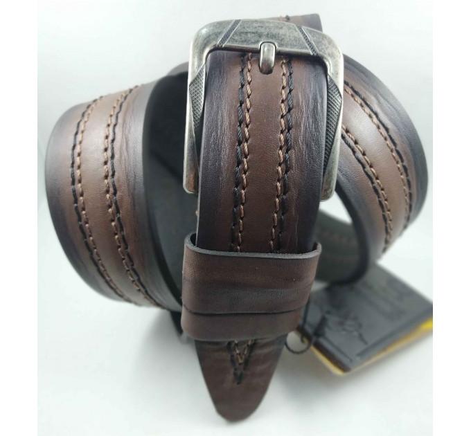 Мужской ремень джинсовый DNKA C45-051 коричневый