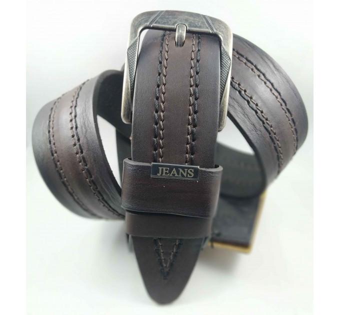 Мужской ремень джинсовый DNKA C45-055 темно-коричневый