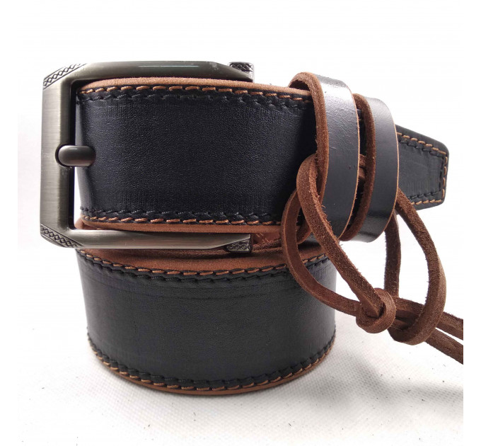 Мужской ремень для джинсов C45-005 коричневый