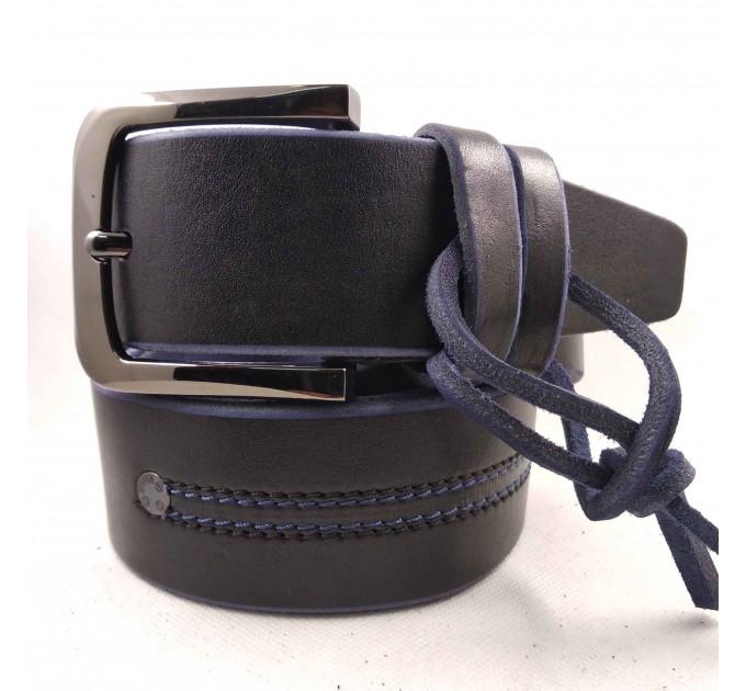 Мужской ремень для джинсов C45-010 синий