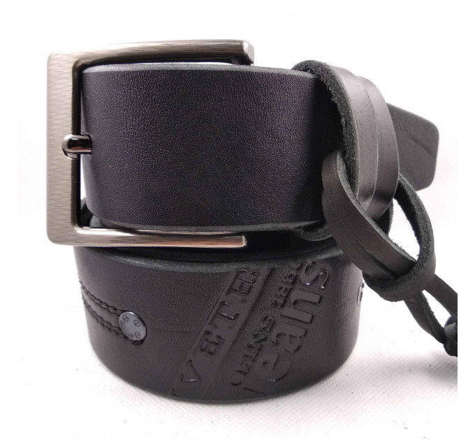 Мужской ремень для джинсов C45-017 черный