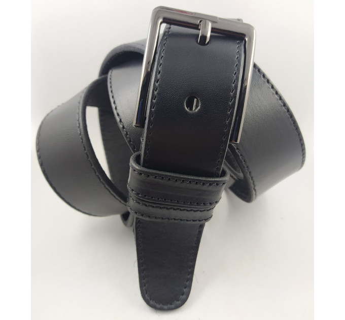 Мужской джинсовый ремень большого размера Oscar BC40-002 черный