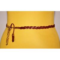 Женский ремень плетеный pl10-004 коричневый