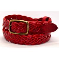 Женский ремень плетеный pl25-003 красный