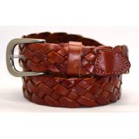 Женский ремень плетеный pl30-002 коричневый
