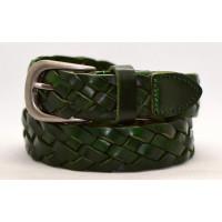 Женский ремень плетеный pl30-003 зеленый