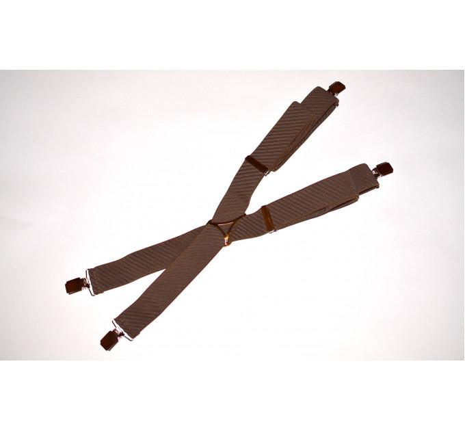 Подтяжки галстучные P35-005 коричневый