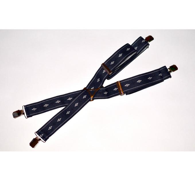 Подтяжки галстучные P35-012 синий