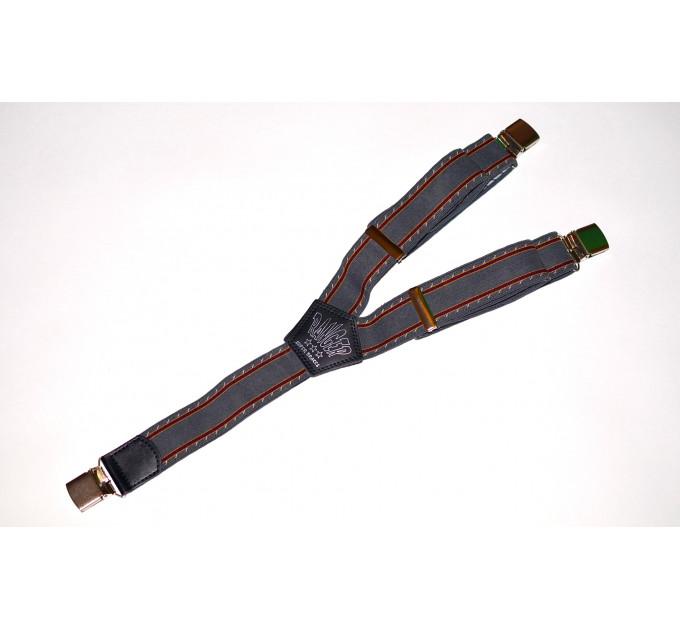 Подтяжки галстучные P35-018 серый