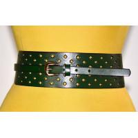 Женский ремень-кушак KR70-007 зеленый