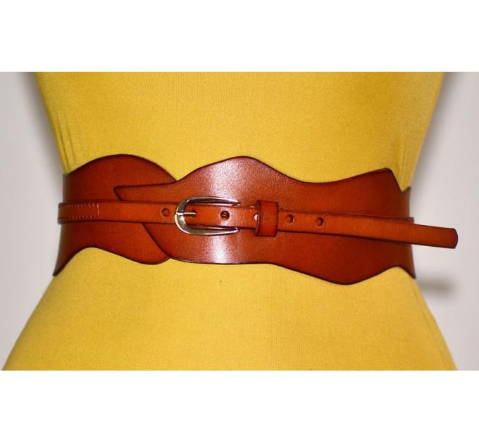 Женский ремень-корсет KR70-014 красный