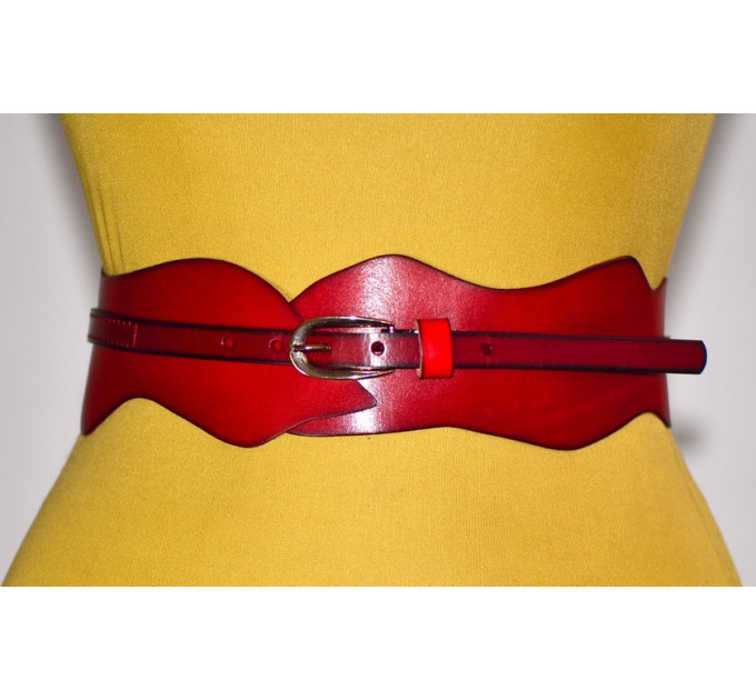Женский ремень-корсет KR70-017 красный