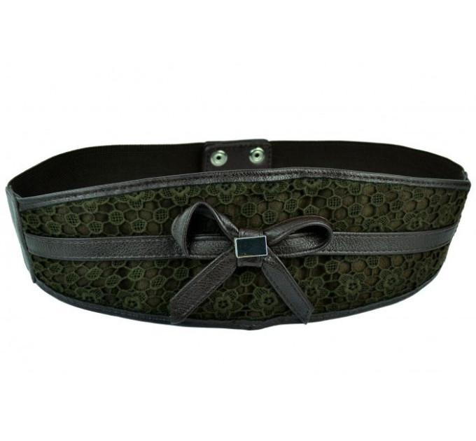 Женский ремень-резинка rez-002 темно-зеленый
