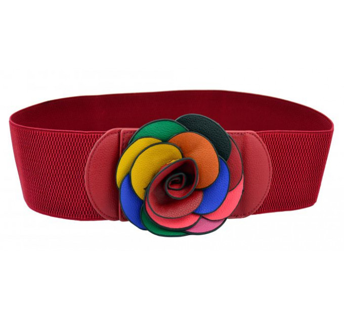 Женский ремень-резинка rez-014 красный