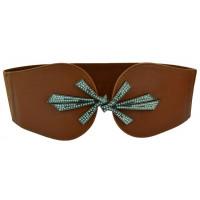 Женский ремень-резинка rez-019 коричневый