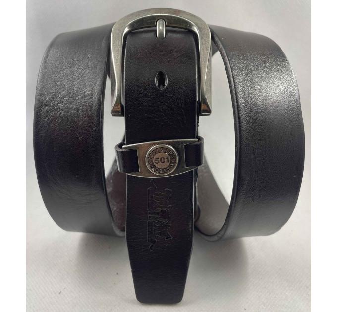 Женский ремень Exclusive джинсовый lv35-003 темно-коричневый