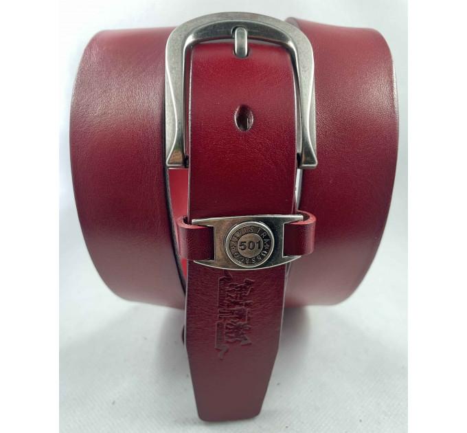 Женский ремень Exclusive джинсовый lv35-004 красный