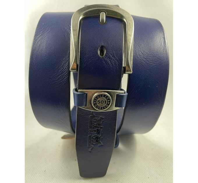 Женский ремень Exclusive джинсовый lv35-005 синий