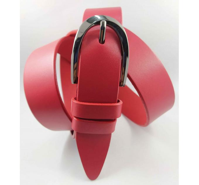 Женский ремень классический Glamour J35-017 красный