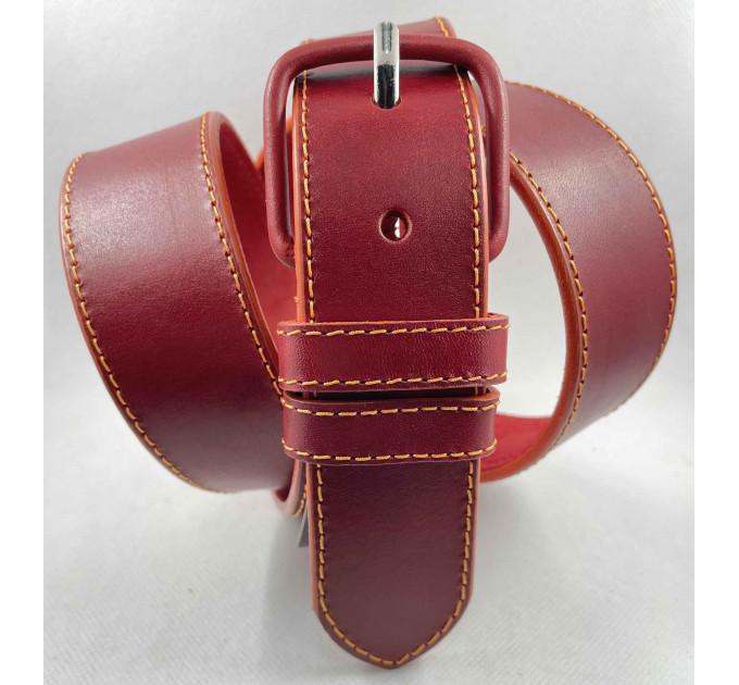 Женский ремень джинсовый Millennium J40-137 красный